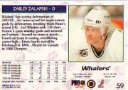 1992-93 Pro Set #59 Zarley Zalapski back image