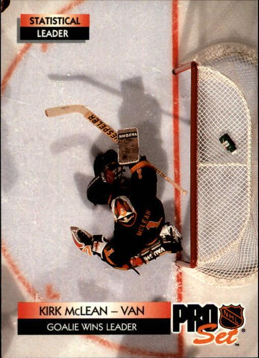 1992-93 Pro Set #250 Kirk McLean LL