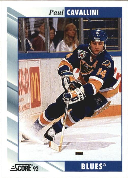 1992-93 Score #22 Paul Cavallini