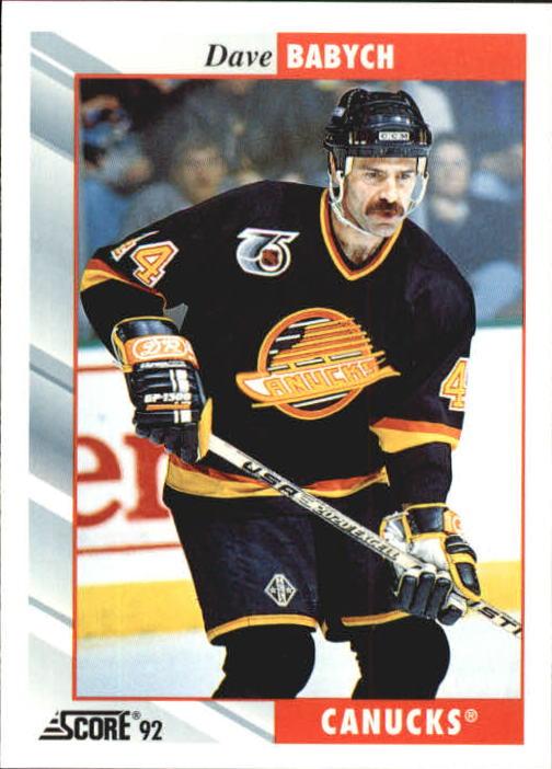 1992-93 Score #212 Dave Babych