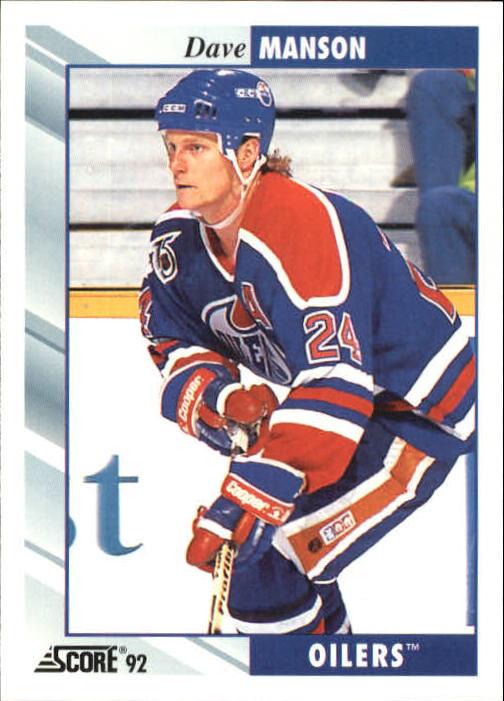 1992-93 Score #214 Dave Manson
