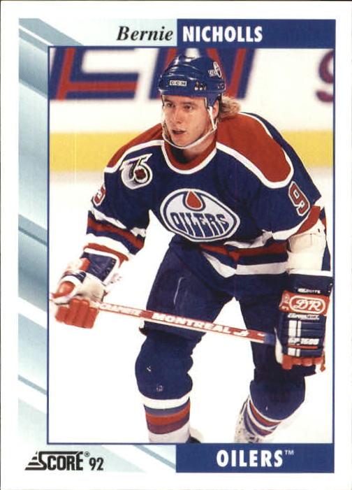 1992-93 Score #340 Bernie Nicholls