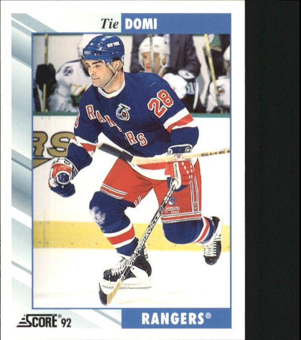 1992-93 Score #408 Tie Domi