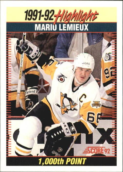 1992-93 Score #448 Mario Lemieux HL