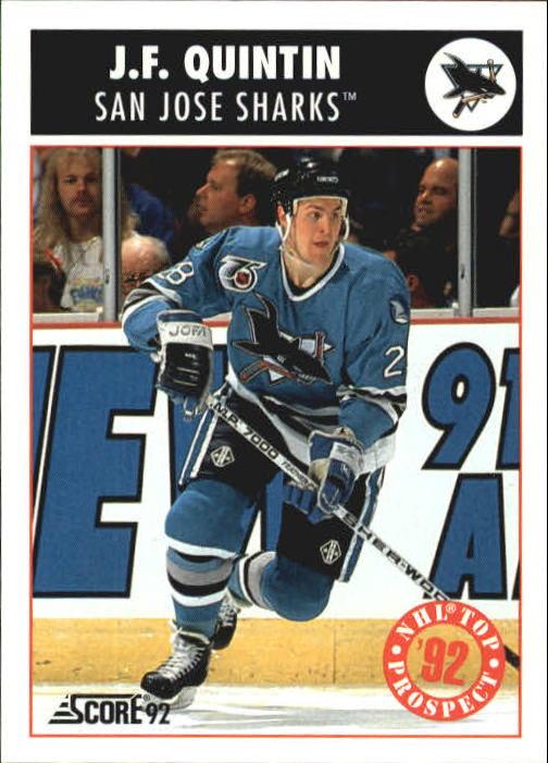 1992-93 Score #488 J.F.Quintin TP RC