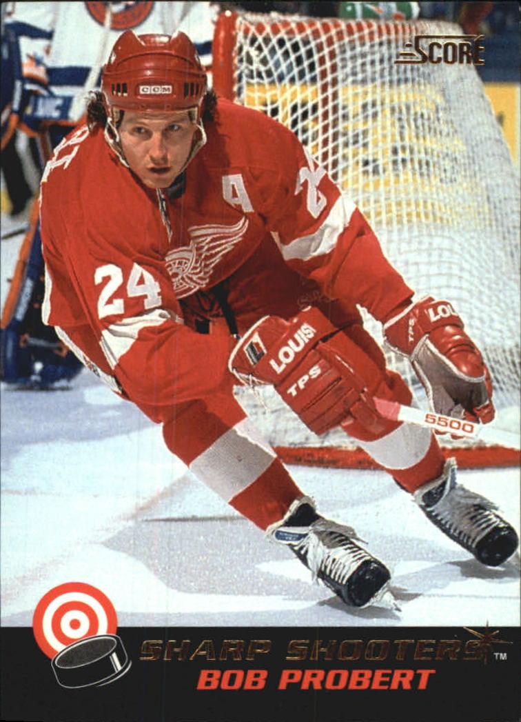 1992-93 Score Sharp Shooters #17 Bob Probert