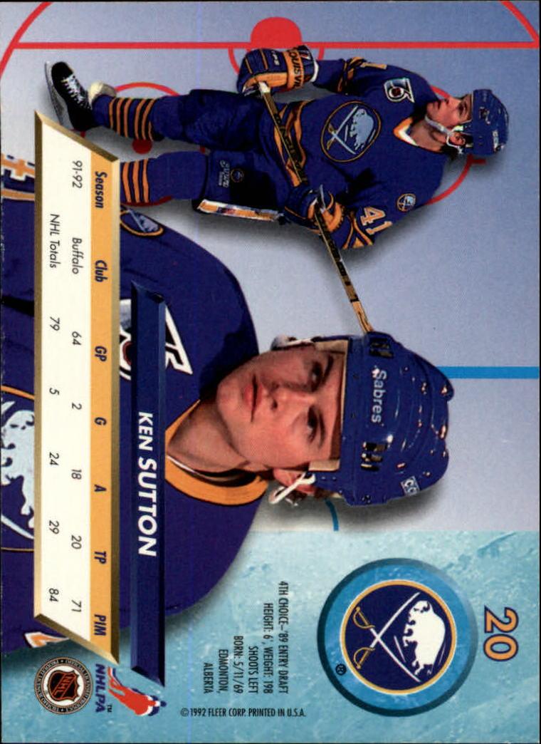 1992-93-Ultra-Hockey-1-250-Your-Choice-GOTBASEBALLCARDS thumbnail 39