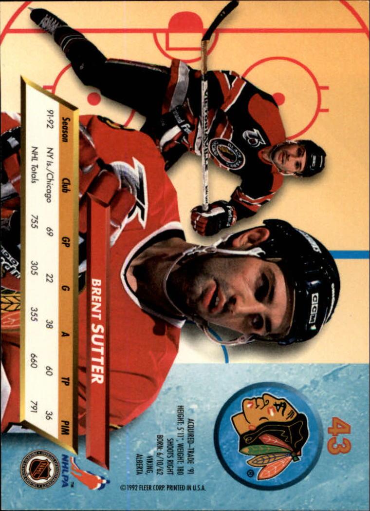 1992-93-Ultra-Hockey-1-250-Your-Choice-GOTBASEBALLCARDS thumbnail 85