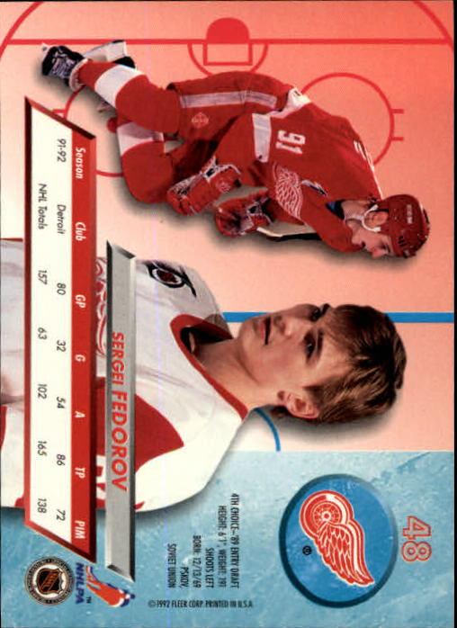 1992-93-Ultra-Hockey-1-250-Your-Choice-GOTBASEBALLCARDS thumbnail 95