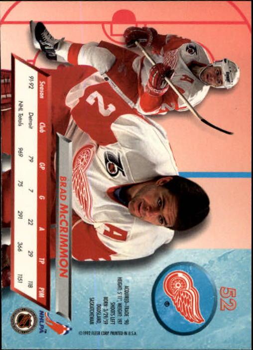 1992-93-Ultra-Hockey-1-250-Your-Choice-GOTBASEBALLCARDS thumbnail 103