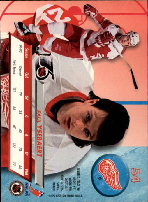 1992-93-Ultra-Hockey-1-250-Your-Choice-GOTBASEBALLCARDS thumbnail 107
