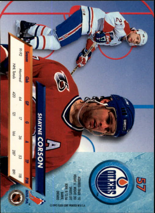 1992-93-Ultra-Hockey-1-250-Your-Choice-GOTBASEBALLCARDS thumbnail 113