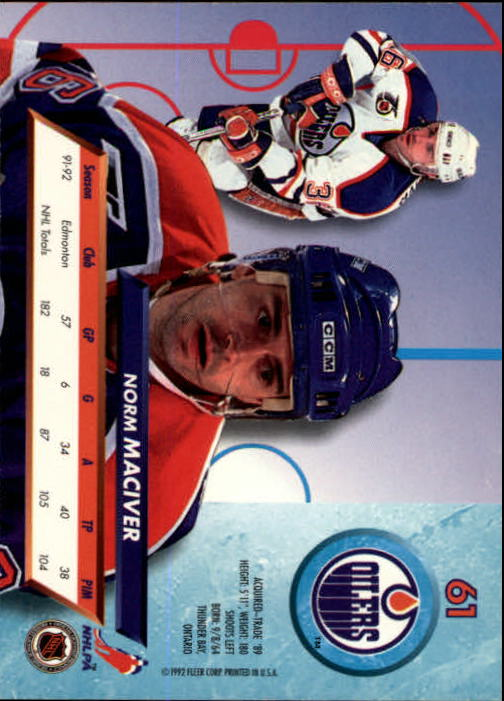1992-93-Ultra-Hockey-1-250-Your-Choice-GOTBASEBALLCARDS thumbnail 121