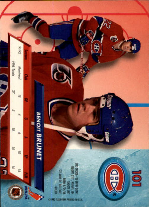 1992-93-Ultra-Hockey-1-250-Your-Choice-GOTBASEBALLCARDS thumbnail 201
