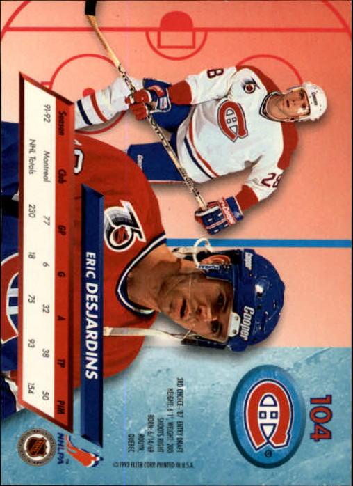 1992-93-Ultra-Hockey-1-250-Your-Choice-GOTBASEBALLCARDS thumbnail 207