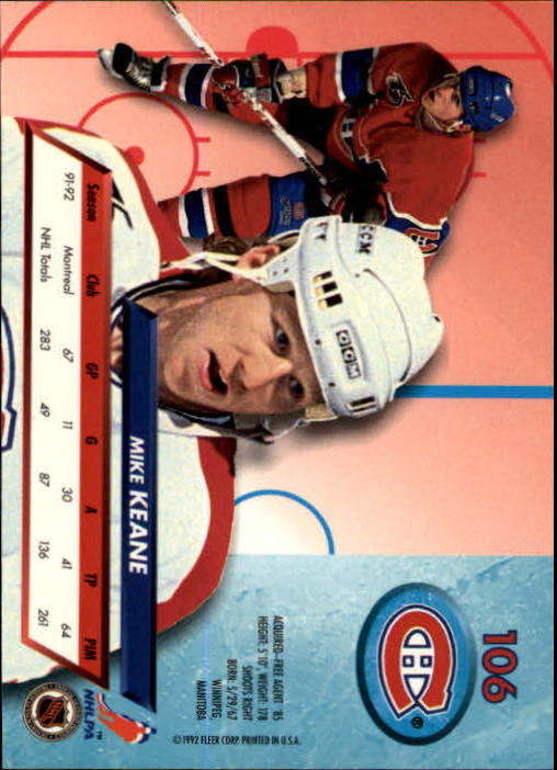 1992-93-Ultra-Hockey-1-250-Your-Choice-GOTBASEBALLCARDS thumbnail 211