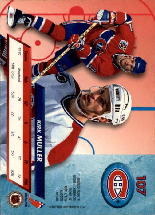 1992-93-Ultra-Hockey-1-250-Your-Choice-GOTBASEBALLCARDS thumbnail 213