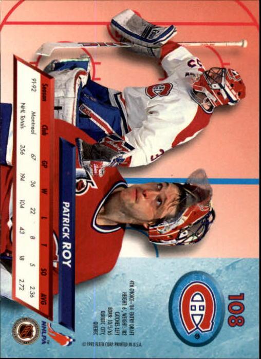 1992-93-Ultra-Hockey-1-250-Your-Choice-GOTBASEBALLCARDS thumbnail 215