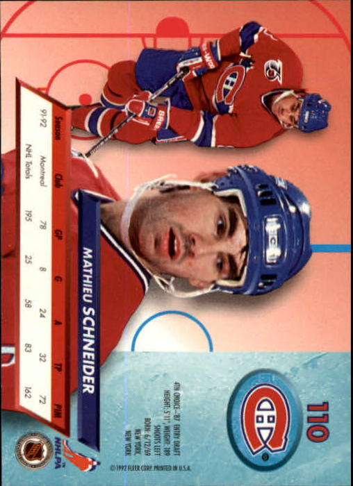1992-93-Ultra-Hockey-1-250-Your-Choice-GOTBASEBALLCARDS thumbnail 219