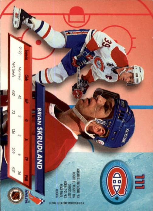 1992-93-Ultra-Hockey-1-250-Your-Choice-GOTBASEBALLCARDS thumbnail 221
