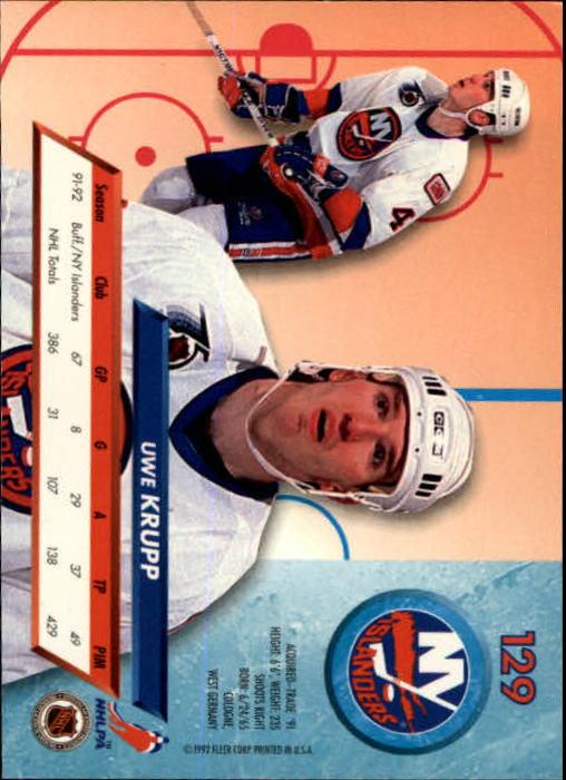 1992-93-Ultra-Hockey-1-250-Your-Choice-GOTBASEBALLCARDS thumbnail 257