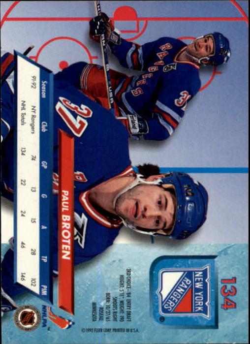 1992-93-Ultra-Hockey-1-250-Your-Choice-GOTBASEBALLCARDS thumbnail 267