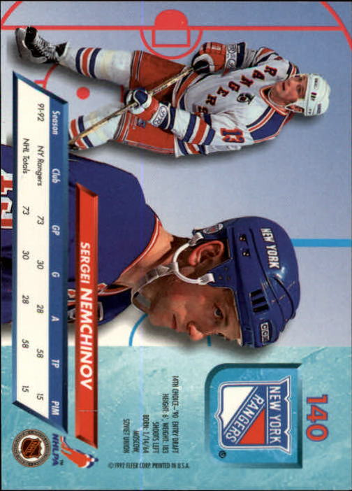 1992-93-Ultra-Hockey-1-250-Your-Choice-GOTBASEBALLCARDS thumbnail 277