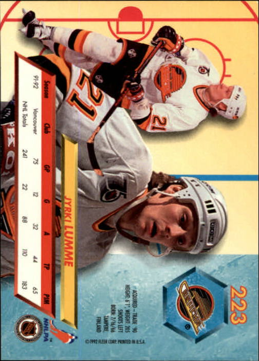 1992-93-Ultra-Hockey-1-250-Your-Choice-GOTBASEBALLCARDS thumbnail 443