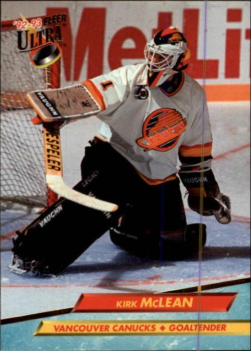 1992-93 Ultra #224 Kirk McLean
