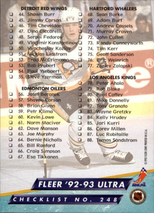 1992-93-Ultra-Hockey-1-250-Your-Choice-GOTBASEBALLCARDS thumbnail 493