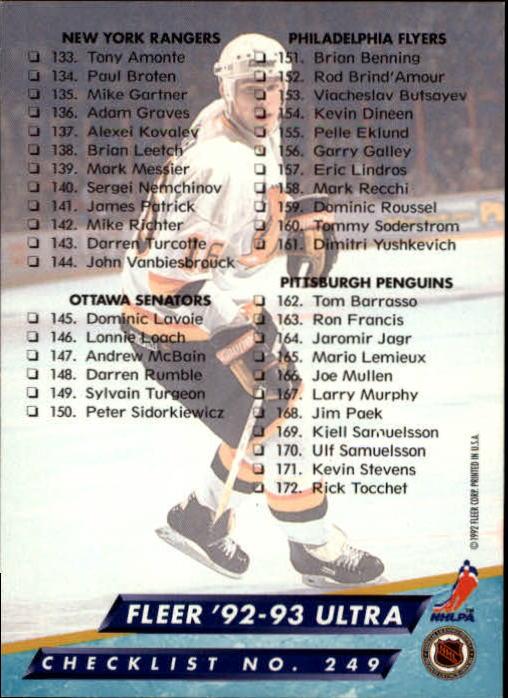 1992-93-Ultra-Hockey-1-250-Your-Choice-GOTBASEBALLCARDS thumbnail 495