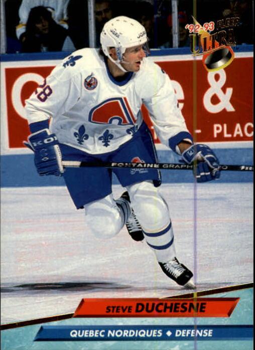 1992-93 Ultra #384 Steve Duchesne