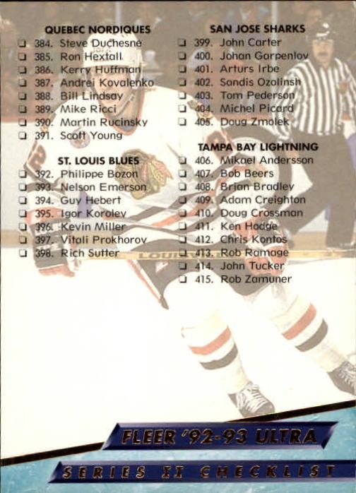 1992-93 Ultra #450 Checklist 6