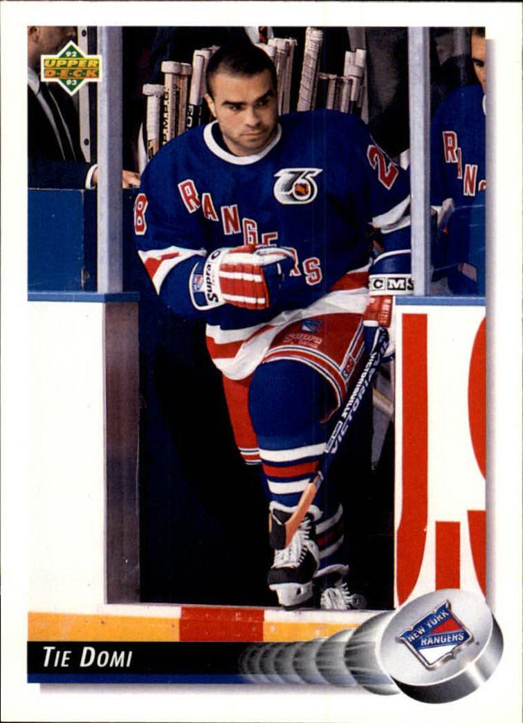 1992-93 Upper Deck #99 Tie Domi