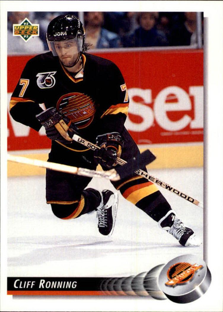1992-93 Upper Deck #160 Cliff Ronning
