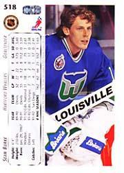 1992-93 Upper Deck #518 Sean Burke back image