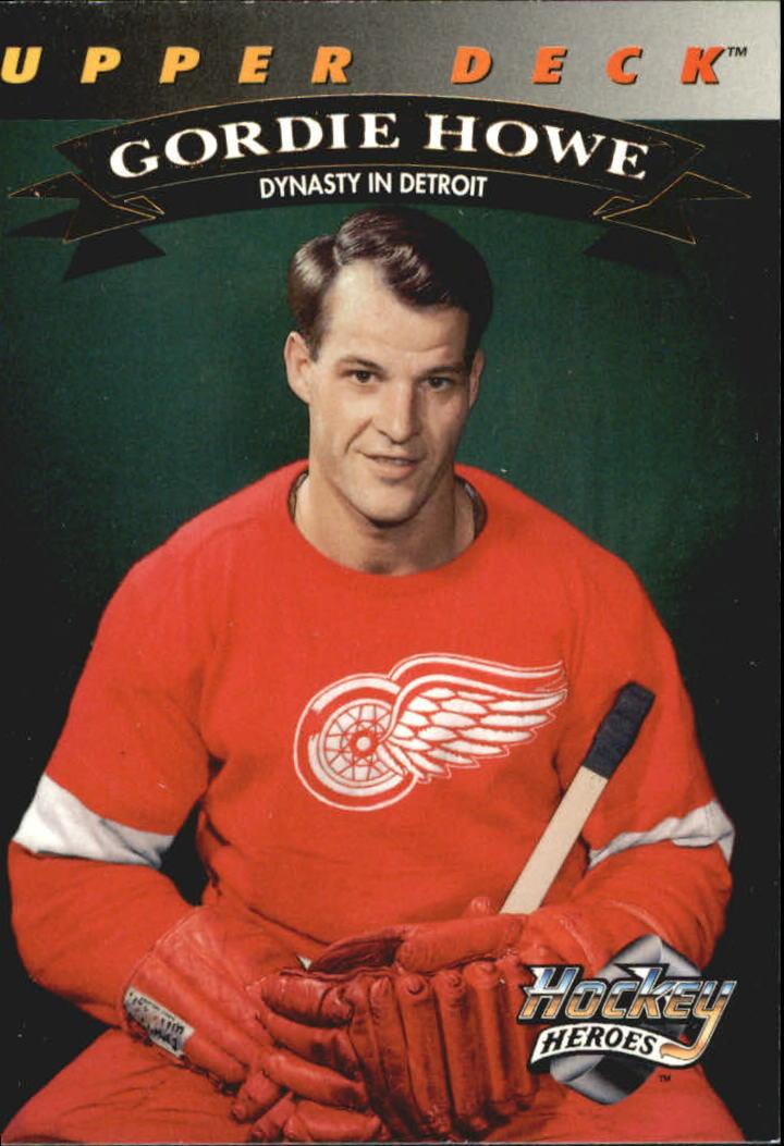 1992-93 Upper Deck Gordie Howe Heroes #20 Gordie Howe/Dynasty in Detroit