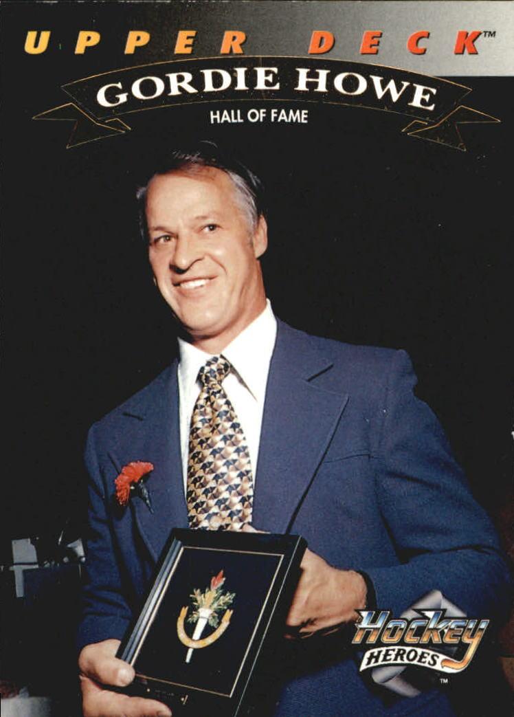 1992-93 Upper Deck Gordie Howe Heroes #24 Gordie Howe/Hall of Fame