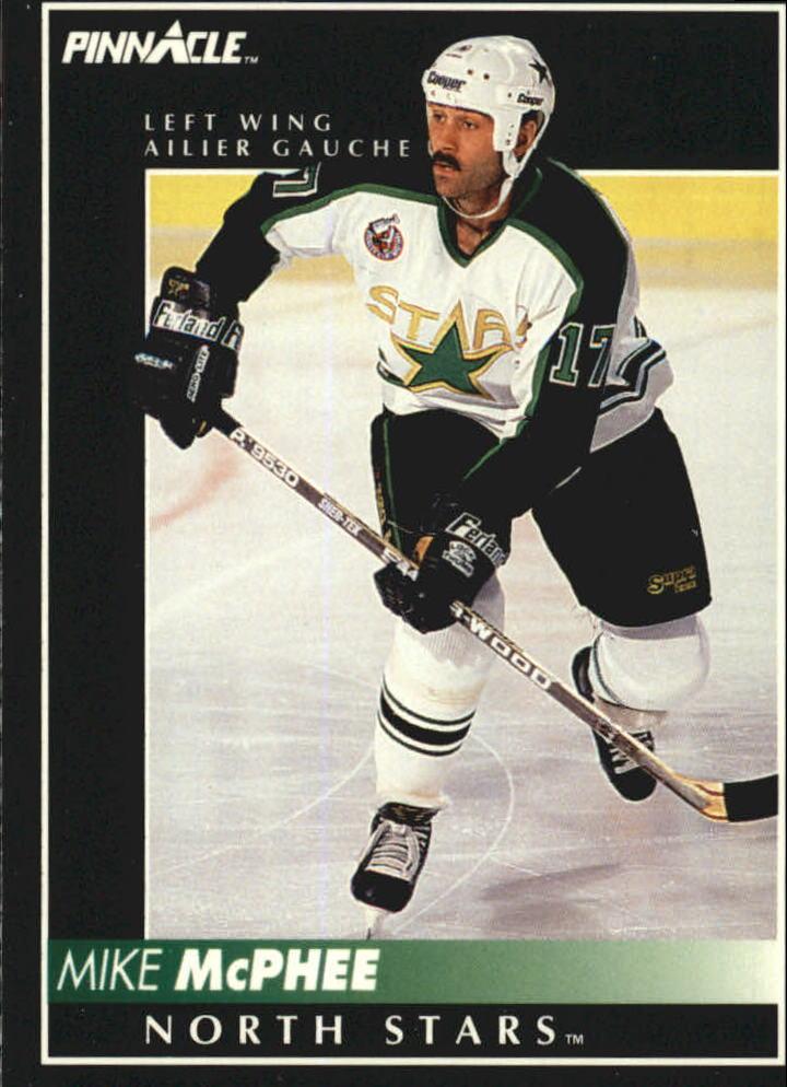 1992-93 Pinnacle French #342 Mike McPhee