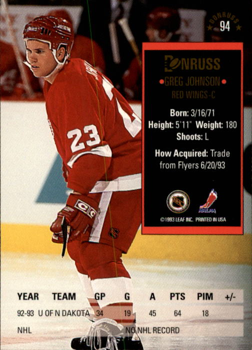 1993-94-Donruss-Hockey-Cards-1-250-Pick-From-List thumbnail 189