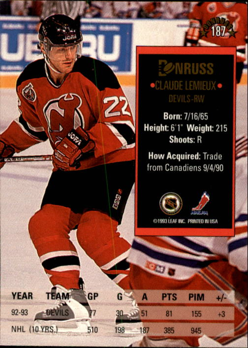 1993-94-Donruss-Hockey-Cards-1-250-Pick-From-List thumbnail 375