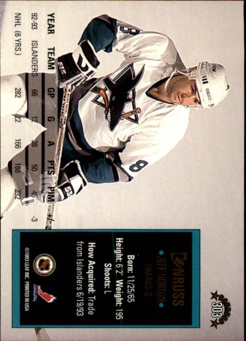 1993-94 Donruss #303 Jeff Norton back image
