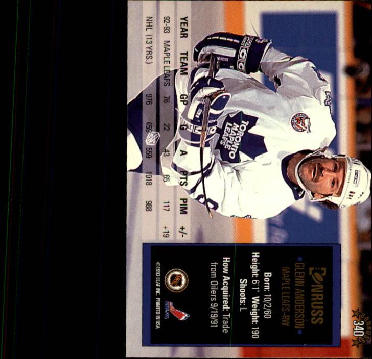 1993-94 Donruss #340 Glenn Anderson back image