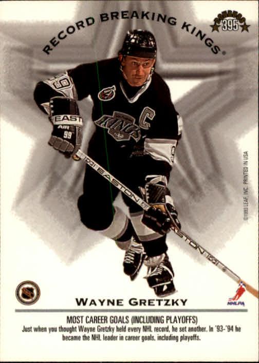 1993-94 Donruss #395 W.Gretzky/L.Robitaille RB back image