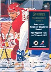 1993-94 Donruss #406 Dan Keczmer RC back image