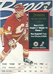 1993-94 Donruss #408 James Patrick back image