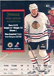 1993-94 Donruss #411 Tony Amonte back image