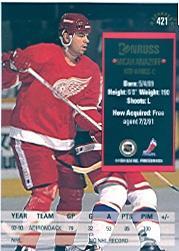 1993-94 Donruss #421 Micah Aivazoff RC back image