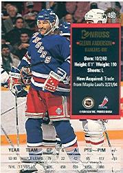 1993-94 Donruss #460 Glenn Anderson back image