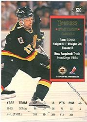 1993-94 Donruss #500 Jimmy Carson back image